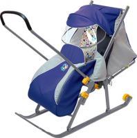 Санки-коляска Ника НД4 (синие) -