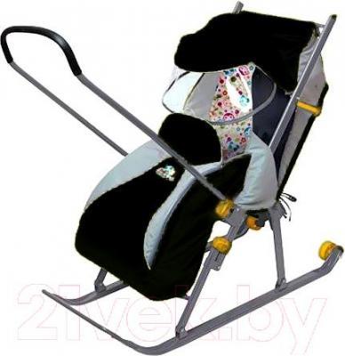 Санки-коляска Ника НД4 (черные) - общий вид