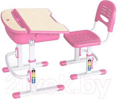 Парта+стул Sundays C301 (розовый) - общий вид