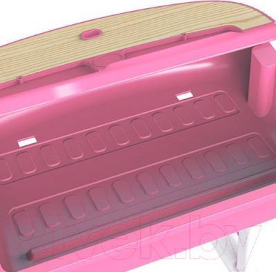 Парта+стул Sundays C301 (розовый) - ящик для принадлежностей