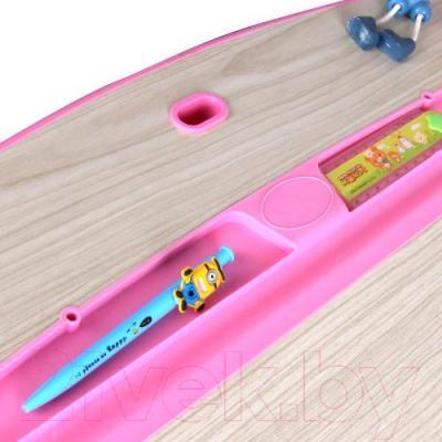 Парта+стул Sundays C301 (розовый) - пенал