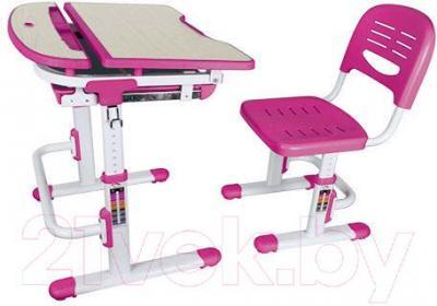 Парта+стул Sundays C304 (розовый) - общий вид