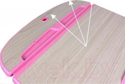 Парта+стул Sundays C304 (розовый) - столешница не отражает свет