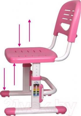 Парта+стул Sundays C304 (розовый) - вентилируемый стул