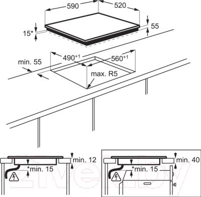 Индукционная варочная панель Electrolux EHH56340FK