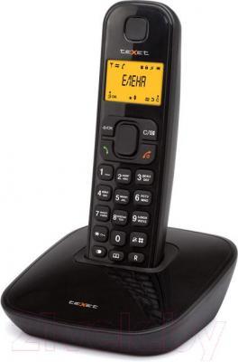 Беспроводной телефон TeXet TX-D6705A (черный) - общий вид