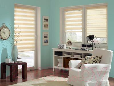 Рулонная штора Gardinia Изи фикс 120x150 (Cream) - в интерьере