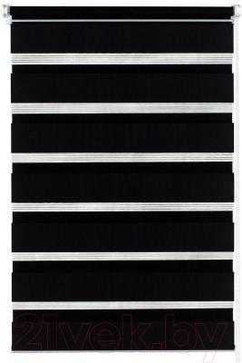 Рулонная штора Gardinia Изи фикс 120x150 (Black) - общий вид