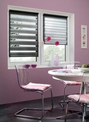Рулонная штора Gardinia Изи фикс 120x150 (Black) - в интерьере