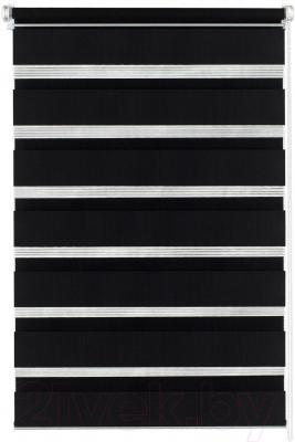 Рулонная штора Gardinia Изи фикс 60x150 (черный) - общий вид