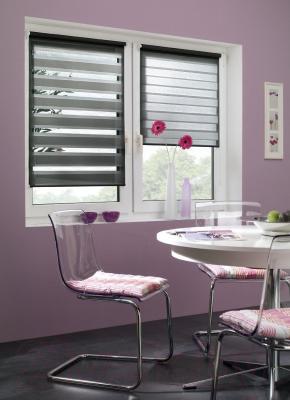 Рулонная штора Gardinia Изи фикс 60x150 (черный) - в интерьере