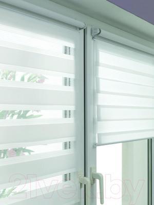 Рулонная штора Gardinia Изи фикс 75x150 (White) - в интерьере