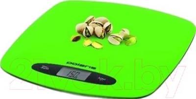 Кухонные весы Polaris PKS0537DL (зеленый) - общий вид