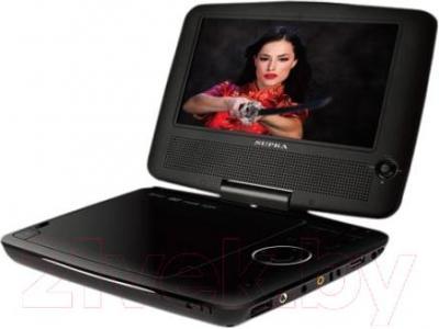 Портативный DVD-плеер Supra SDTV-722UT (черный) - общий вид