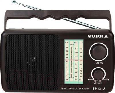 Радиоприемник Supra ST-124U (Black) - общий вид