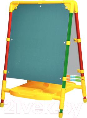 Мольберт детский двусторонний Ника Растущий M2 (Сиреневый) - меловая доска на примере модели другого цвета