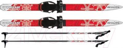 Комплект беговых лыж Arctix Snowflake 110 / 349-06110 (красный) - общий вид комплекта