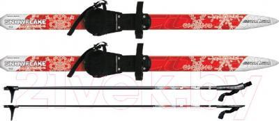 Комплект беговых лыж Arctix Snowflake 130 / 349-07130 (красный) - общий вид комплекта