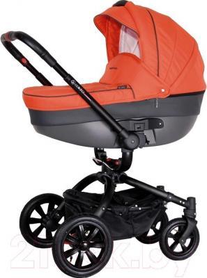 Детская универсальная коляска Coletto Messina 3 в 1 (оранжево-черный) - общий вид