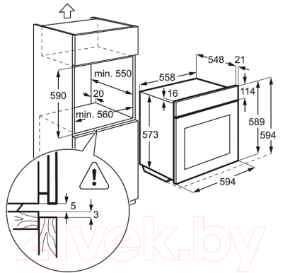 Электрический духовой шкаф Electrolux EOA53420BN