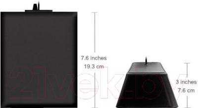 Мультимедиа акустика Logitech Z213 (980-000942) - размеры колонки и сабвуфера