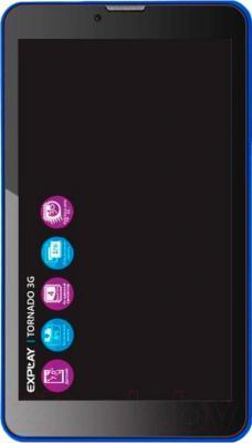 Планшет Explay Tornado 3G (синий) - общий вид