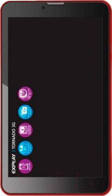 Планшет Explay Tornado 3G (красный) - общий вид