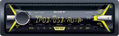 Автомагнитола Sony CDX-G3100UE - с желтой подсветкой