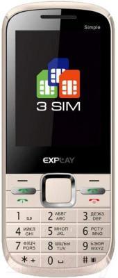 Мобильный телефон Explay Simple (Cream) - общий вид