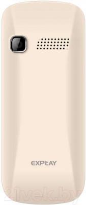 Мобильный телефон Explay Simple (Cream) - вид сзади