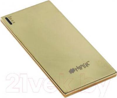 Портативное зарядное устройство Hiper SLIM3500 (золотой) - общий вид