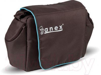 Детская универсальная коляска Anex Elana (терракотовый) - сумка для мамы  (на примере бирюрозового цвета)