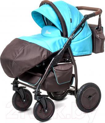 Детская универсальная коляска Anex Elana (бежевый) - чехол для ног (на примере бирюрозового цвета)