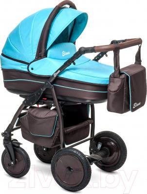 Детская универсальная коляска Anex Elana (розовый) - общий вид