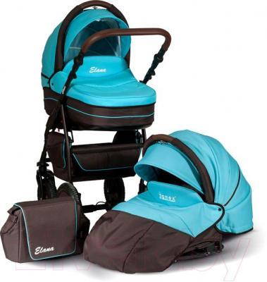 Детская универсальная коляска Anex Elana (коричневый) - 2 в 1 (на примере бирюрозового цвета)