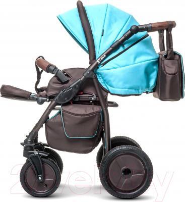 Детская универсальная коляска Anex Elana (коричневый) - прогулочная  (на примере бирюрозового цвета)