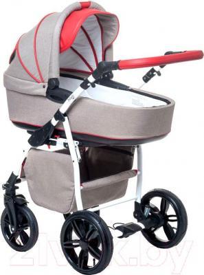 Детская универсальная коляска Anex Nixie (красный) - общий вид