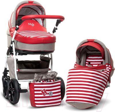 Детская универсальная коляска Anex Nixie (красный) - комплект