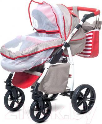 Детская универсальная коляска Anex Nixie (красный) - москитная сетка