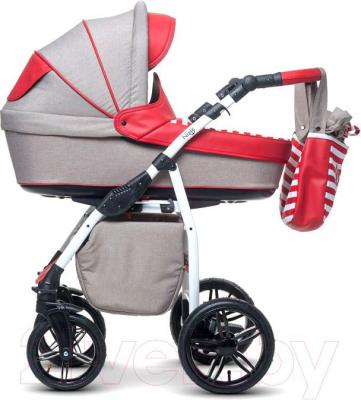 Детская универсальная коляска Anex Nixie (красный) - вид сбоку