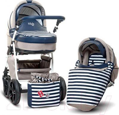 Детская универсальная коляска Anex Nixie (синий) - комплект