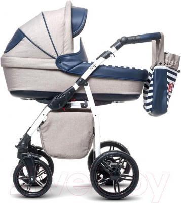 Детская универсальная коляска Anex Nixie (синий) - вид сбоку