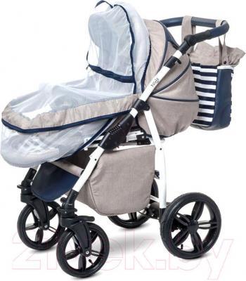 Детская универсальная коляска Anex Nixie (синий) - москитная сетка