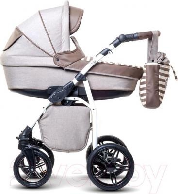 Детская универсальная коляска Anex Nixie (бежевый) - вид сбоку