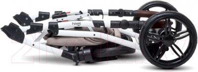 Детская универсальная коляска Anex Nixie (бежевый) - в сложенном виде