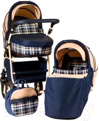 Детская универсальная коляска Anex Retro (синий) - общий вид