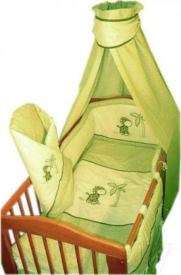 Комплект в кроватку Ankras Жирафик 3 (зеленый) - балдахин в комплект не входит