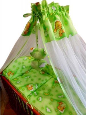 Комплект в кроватку Ankras Стандарт: Мишки в гамаке 3 (зеленый) - общий вид