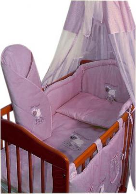 Комплект в кроватку Ankras Сладкий сон: Овечка 3 (розовый) - балдахин в комплект не входит