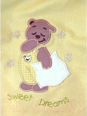 Комплект в кроватку Ankras Сладкий сон: Мишка с подушкой 3 (желтый)